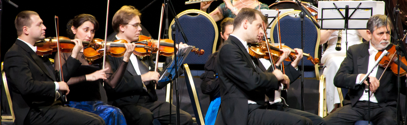 Symphony performing on stage
