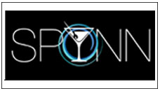 Spynn Restaurant logo with black background and border