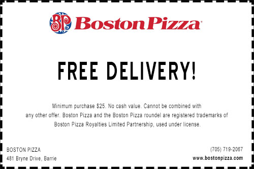Boston-Pizza-South-free -Delivery-Coupon