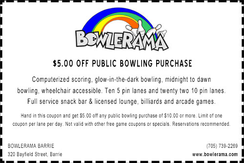 Bowlerama Barrie Coupon