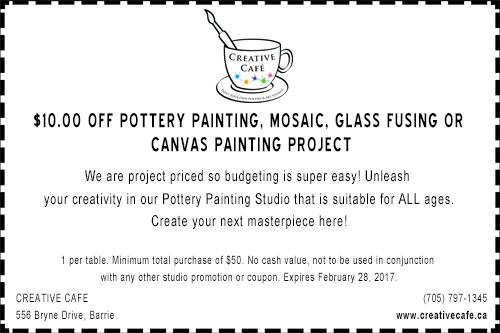 Creative Cafe Barrie Online Coupon