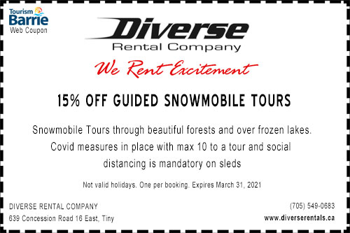 Diverse-Rental-snowmobile coupon
