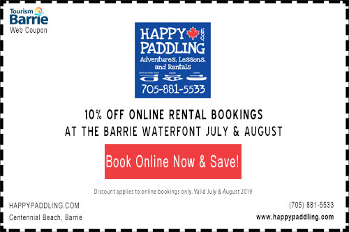 Coupon for 10% off happypaddling online rental bookings