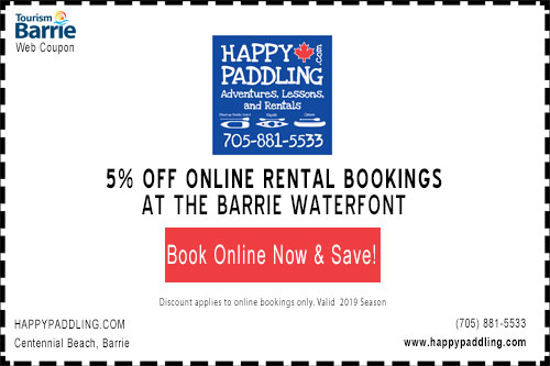 5% off online happypaddling bookings coupon