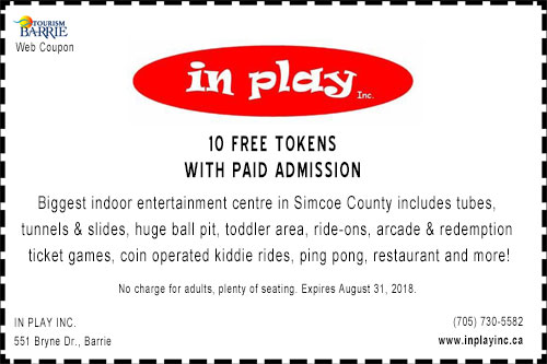 Discount coupon for In Play Inc in Barrie