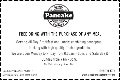 Discount coupon for Jack's Pancake Factory