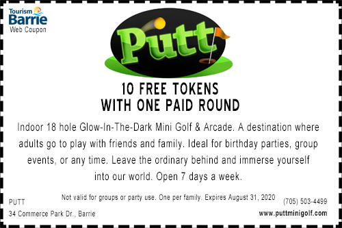 Putt Barrie coupon