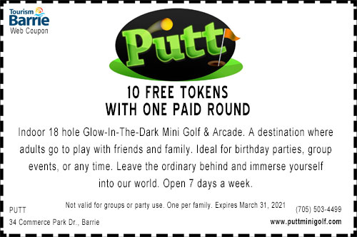 Putt Free Tokens coupon