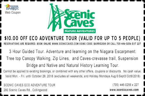 Scenic Caves Eco Adventure $10 off coupon