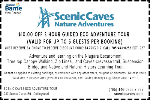 Scenic Caves 2019 summer $10 off eco adventure coupon