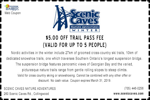 Scenic Caves $5.00 off Trail Pass Winter 2019 Coupon