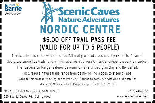 Scenic Caves winter 2020 $5 off coupon
