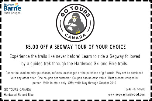 Go Tours Canada $5.00 off segway tour coupon for summer 2019