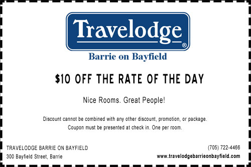 Travelodge Barrie on Bayfield Winter Coupon