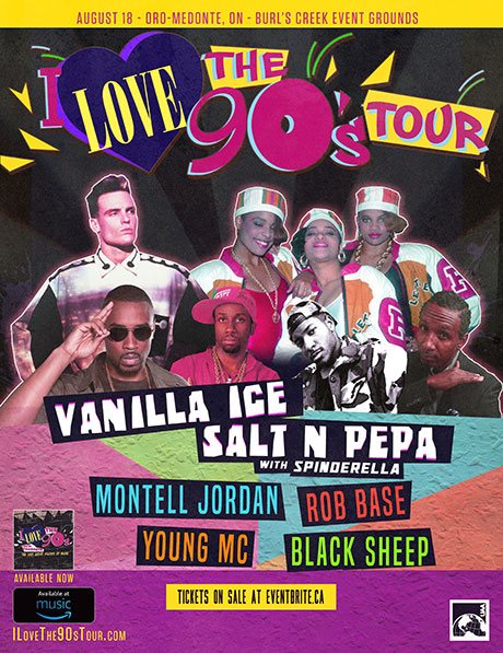 I love the 90s music tour poster with performers and line up