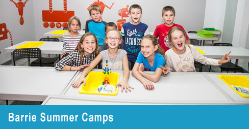 Kids at an indoor summer camp