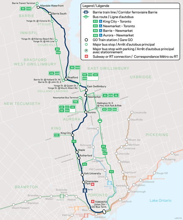 GO Transit Barrie - GO Train - GO Bus on main street map, st. lawrence market, downsview park map, interstate 15 map, ontario map, bay street, toronto islands, bloor street map, dundas square, toronto eaton centre, casa loma, chinatown, toronto, queen street west, cn tower map, lake simcoe, i-35 map, bank street, hwy 1 map, brookfield place map, victoria street map, high park map, highway 93 map, yorkville, toronto, gardiner expressway, underground city map, highway 101 map, i-65 map, federal highway map, royal ontario museum, toronto map, richmond hill, don valley parkway map, highway 99 map, kensington market map, hockey hall of fame,