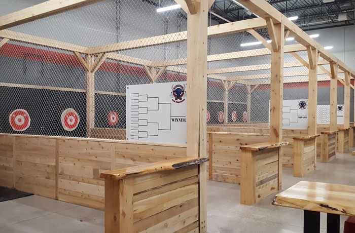 Axe throwing in barrie