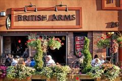 British Arms summer patio in Downtown Barrie