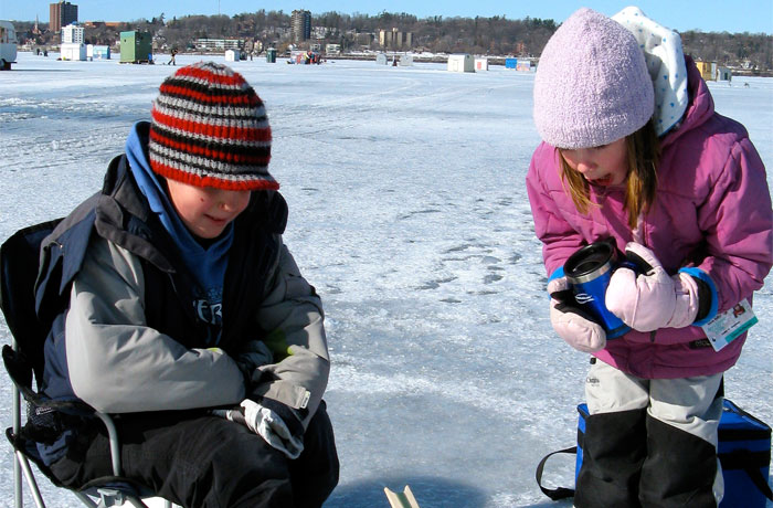 Ice Fishing on Barrie's Kempenfelt Bay