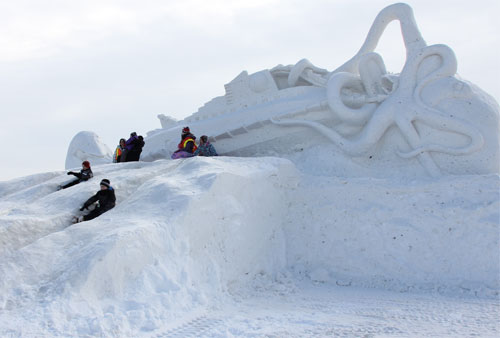Snow Sclupture - Barrie's Winterfest