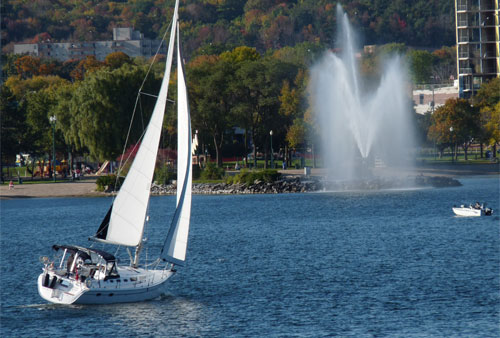 Sailing  on Kempenfelt Bay, Barrie