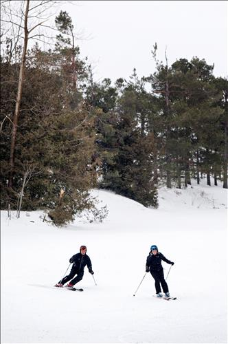 Downhill skiing at a Barrie resort