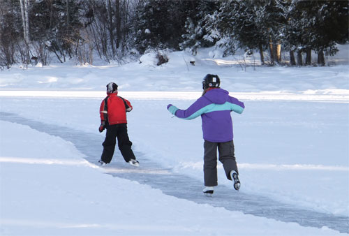 Ice Skating, Barrie, Ontario