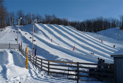 Snow Tubing at Snow Valley