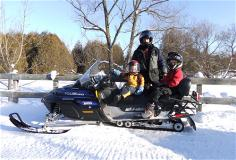 Snowmobiling in Barrie