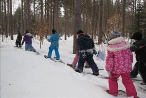 Snowshoeing at Tiffin Centre
