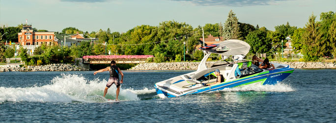 Wakeboarding on Kempenfelt Bay