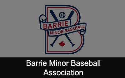 Barrie Minor Baseball Association Logo