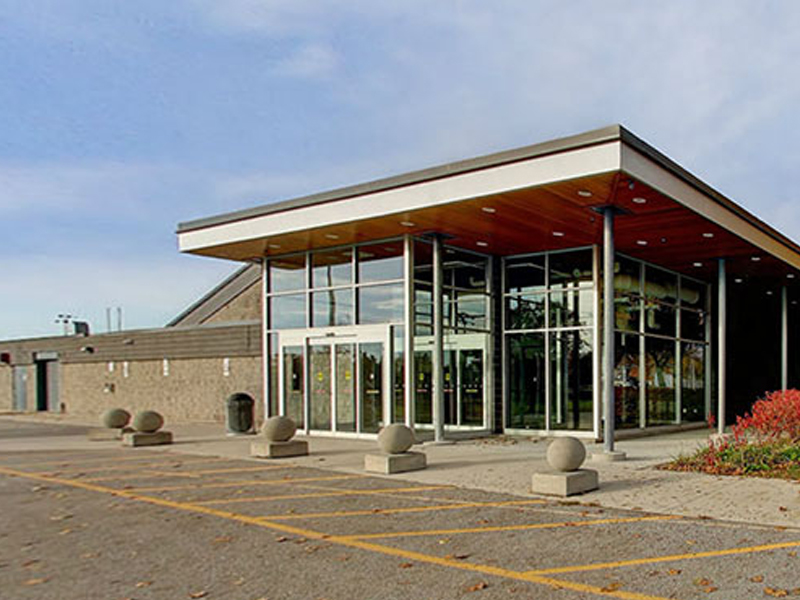 Exterior of Eastview Arena
