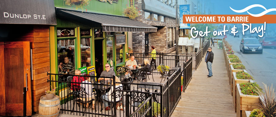 Downtown Barrie summer time patio